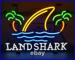 New Landshark Lager Beer Shark Fin Neon Sign 17x14 Beer Lager Decor Light Lamp