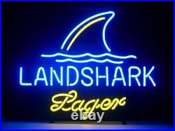 New Landshark Lager Grill Jimmy Buffetts Neon Light Sign 17x14 Beer Cave Gift