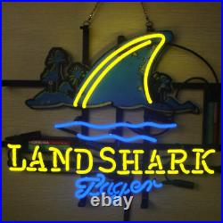 New Landshark Lager Open Beer Bar Neon Light Sign 24x20