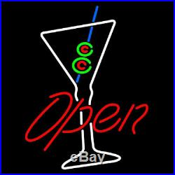 New Martini Open Cup Bar Beer Neon Light Sign 19x15
