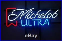 New Michelob Ultra Cub Party Real Glass Neon Sign Beer Bar Pub Light FREE SHIP