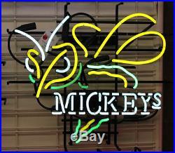 New Mickeys Bumble Bee Hornet Beer Bar Pub Man cave Garage Neon Sign 17X14