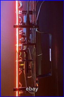 New Miller Genuine Draft Beer Lighted Neon Guitar Bar Sign Rare
