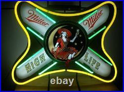 New Miller Lite High Life Beer Neon Light Sign 19x15