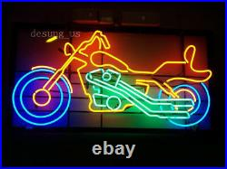 New Motorcycle Lamp Artwork Real Glass Light Handmade Beer Neon Sign 17x14
