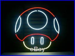 New Nintendo Mario Mushroom Beer Bar Neon Light Sign 24x20