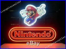 New Nintendo Super Mario REAL GLASS NEON SIGN BEER BAR PUB LIGHT Free Shipping