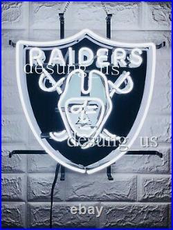 New Oakland Raiders Beer Bar Neon Light Sign 20x16 HD Vivid Printing