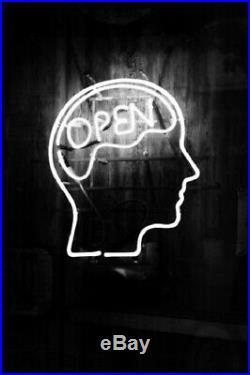 New Open Mind Head Light Lamp Beer Neon Sign 20x16