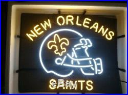 New Orleans Saints Helmet Beer Neon Light Sign 24x20