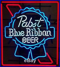 New Pabst Blue Ribbon Beer Lager Bar Pub Neon Sign 19x15 Q183M