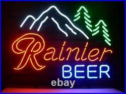 New Rainier Beer Neon Sign Bar Pub Gift Light Lamp 17x14