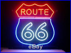New Route 66 Beer Neon Sign 20x16