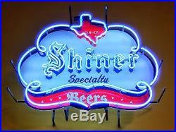 New Shiner Beer Texas Bar Neon Light Sign 24x20
