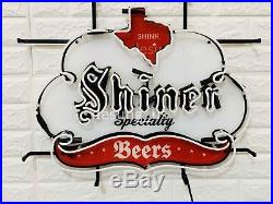 New Shiner Beers Texas Speciality Light Neon Sign 24 with HD Vivid Printing