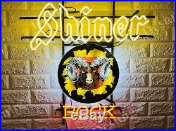 New Shiner Bock Texas Ram Beer Neon Light Sign 24 HD Vivid Printing