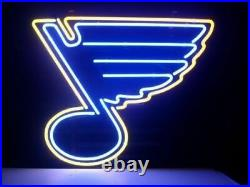 New St. Louis Blues Beer Neon Light Sign 17x14 Real Glass Home Wall Decor Lamp