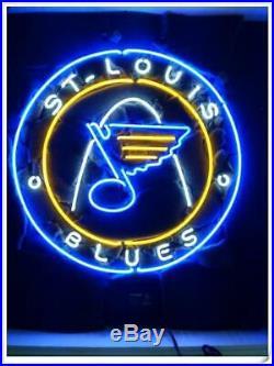 New St Louis Blues Logo Bar Beer Lamp Neon Light Sign 24x24