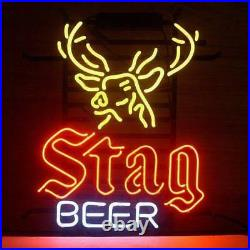 New Stag Beer Deer Man Cave Neon Light Sign 17x14
