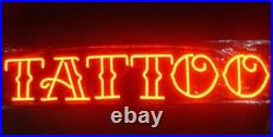 New Tattoo Piercing Red Beer Bar Neon Light Sign 24x20