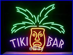 New Tiki Bar Totem Pole Neon Light Sign 17x14 Beer Gift Bar Real Glass Decor