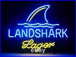 New Yellow Landshark Lager Neon Light Sign 17x14 Beer Bar Cave Gift Decor