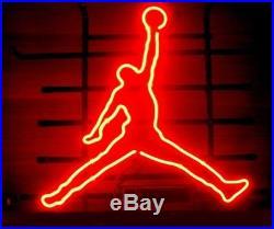 Nike Air Jordan Beer Bar Club Lamp Poster Neon Light Sign 16x16 Me581