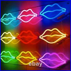 Nine Lips Neon Light Sign Man Cave Gift Beer Bar Pub Artwork Glass Bedroom Glass