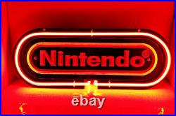 Nintendo Red 3D Carved Neon Sign 14x4 Lamp Light Beer Bar With Dimmer