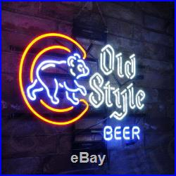 Old Style Beer Bar Neon Sign Light Pub Store Canteen Vintage Man Cave Wall Party