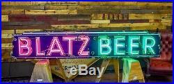 Original Blatz Beer Porcelain Neon Sign 8ft WILL SHIP Breweriana Milwaukee Bar