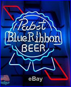 Pabst Blue Ribbon Beer Neon Sign 17x14 From USA