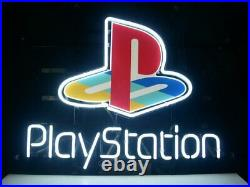 PlayStation Video Game Room 14x10 Neon Sign Lamp Light Beer Bar With Dimmer