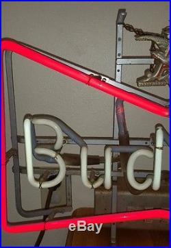 RARE ANTIQUE BUDWEISER BEER NEON BOWTIE BAR / RESTAURANT SIGN 27 x 15