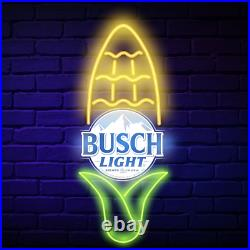 RARE Busch Light Sign Beer CORN COB LED For the Farmers Tractor Neon Can Cooler