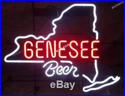 RARE Genesee Beer Rochester Beer Bar Light Real Neon Sign FAST FREE SHIPPING