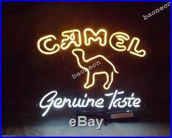 RARE New Camel Genuine Taste Marlboro Cigarette Tobacco BEER BAR NEON LIGHT SIGN