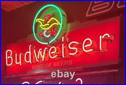 Rare 5 Color Budweiser Beer Neon Sign Eagle Anheuser Busch Vintage 4 Ft