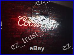 Rare New Coors Light Mountain Beer Light Lamp Bar Neon Sign 20 HD Vivid