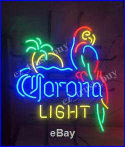Rare New Corona Light Parrot With Palm Tree Beer Neon Sign 18x14