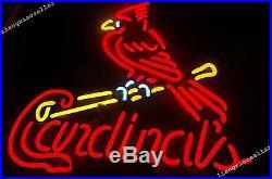 Rare St. Louis Cardinals MLB Baseball Beer Bar NEON SIGN LIGHT Fast Free Ship