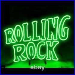 Rolling Rock Beer Neon Lamp Sign 17x14 Bar Light Glass Artwork Decor Windows