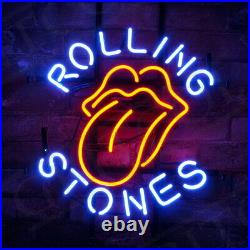 Rolling Stone Beer Bar Room Bistro Wall Decor The Neon Sign Co 17''x14'