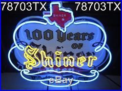 SHINER BEER 100 Year Anniversary Neon Sign / Bar Light RARE Texas lone star