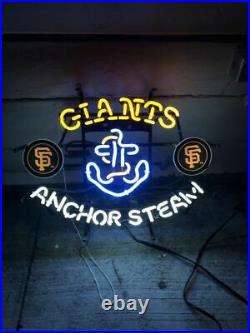 San Francisco Giants Anchor Steam Neon Light Sign 24x20 Beer Bar Decor Lamp