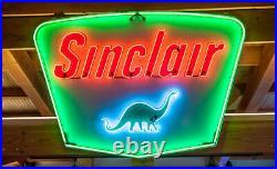 Sinclair Dino Gas Station Oil Neon Light Lamp Sign 32x24 Beer Glass Bar Decor