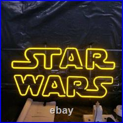 Star Wars Logo 14x10 Neon Sign Lamp Light Beer Bar With Dimmer