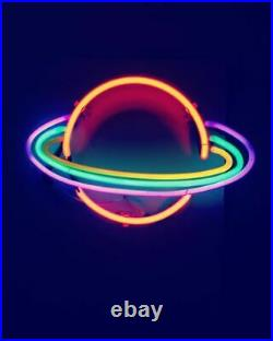 Stellar Star Planet Neon Sign Lamp Light With Dimmer Acrylic Beer Bar