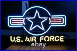 U. S. Air Force Neon Light Sign 24x20 Beer Bar Decor Lamp Glass Artwork