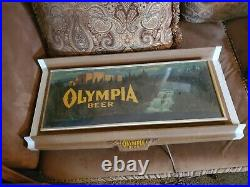 VINTAGE OLYMPIA BEER BREWERY RIVER SIGN NON-MOTION LIGHT neon rare mancave bar